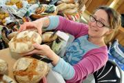 The mouth watering smell of freshly baked bread wafted through Bishops Castle Town Hall thanks to and artisan bread stall called Amanda's Bread'. The stall is rung by Hopesay's Amanda Simpison-Atkins. 1515_52001