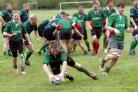 Paul Hulland was among Cleobury Mortimer's try-scorers