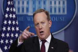 Anger as Trump's press chief bars UK news outlets from White House briefing