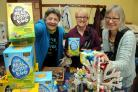 Service with a smile from Penny Bridstrup, Sue Johnson and Liz Taylor, three of the volunteer organisers of the Fairtrade Spring Fair Big Brew held at the Ludlow Mascall Centre.