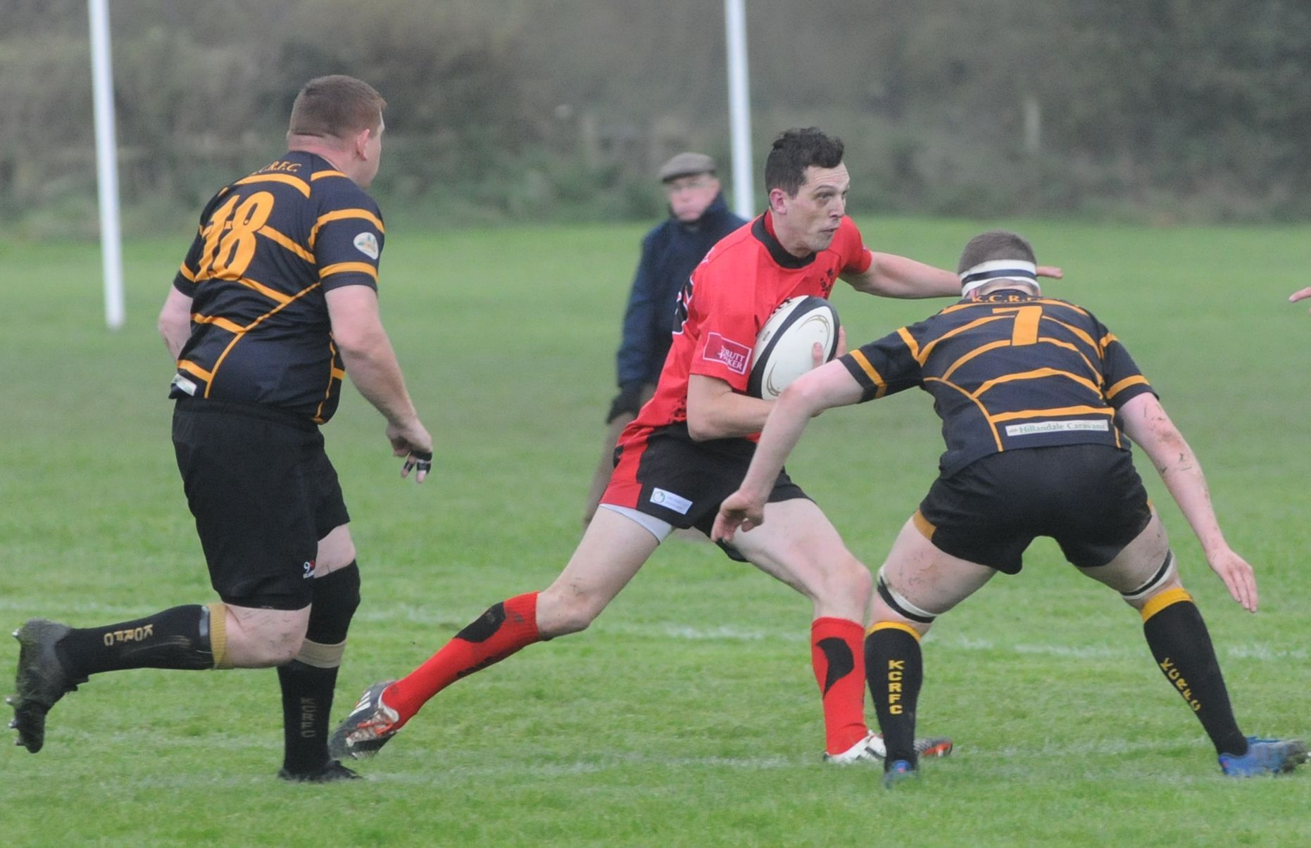 Joe Doyle, seen here in a previous game, scored a try for Ludlow, but it was not enough as Leek won 12-10