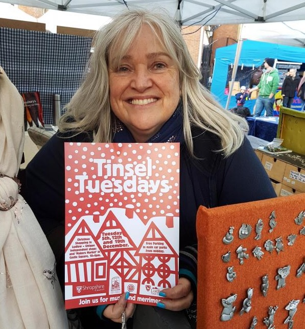 Julia Bailey from Cloverzone - a Tinsel Tuesday stallholder