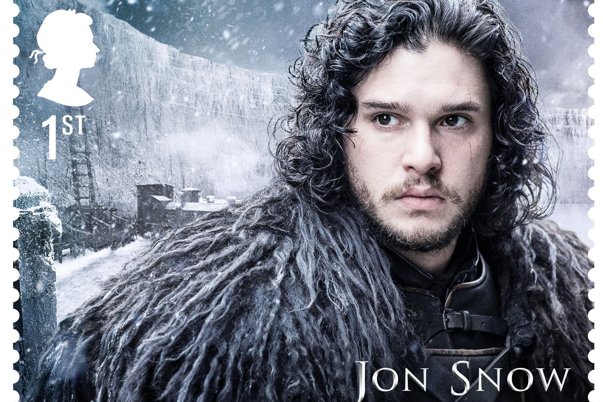 Undated handout Royal Mail photo from their set of Game of Thrones stamps, featuring Jon Snow, available from January 23, 2018.