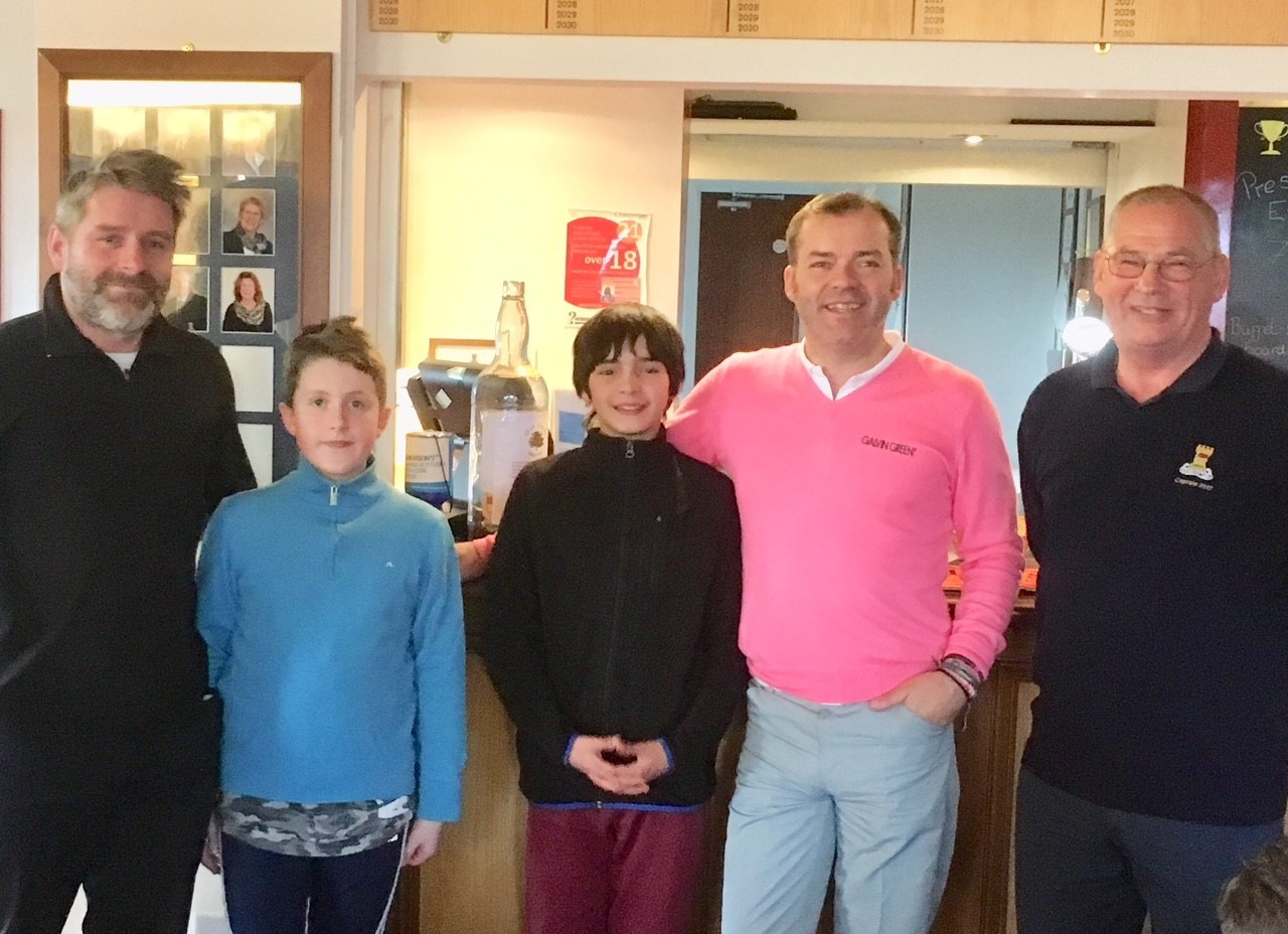From left: Simon Jones, Jasper Jones, Ethan Greenhalgh, Andy Greenhalgh and Ludlow GC captain Dave Sanders