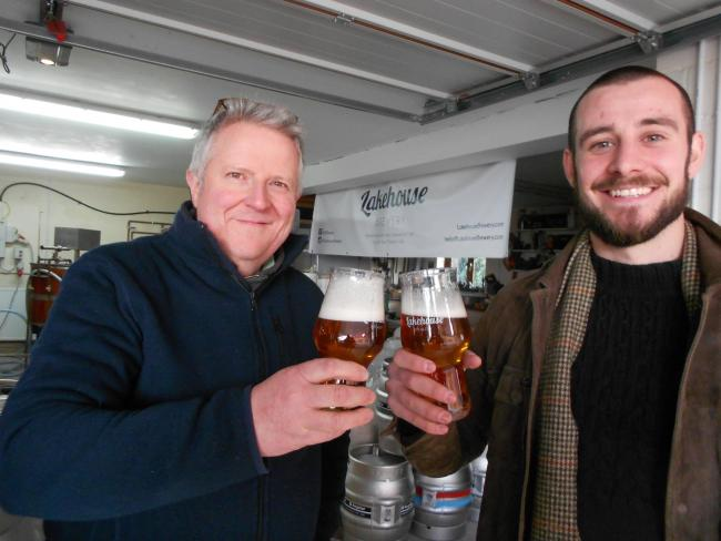 CHEERS: Head brewer Graeme Gordon and managing director Dan Frost have joined forces at Lakehouse Brewery, Malvern.