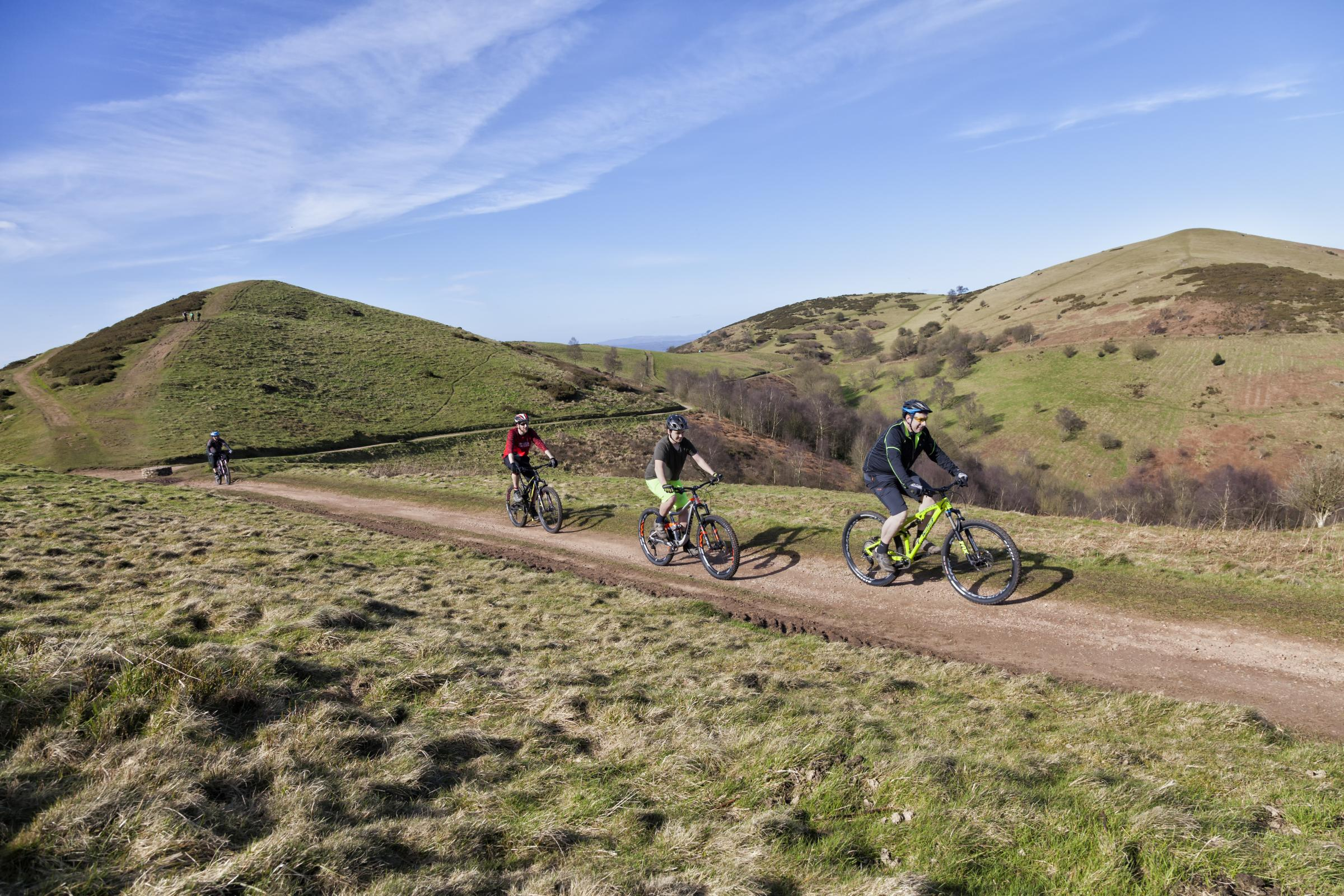 Riders on the Malvern Hills.