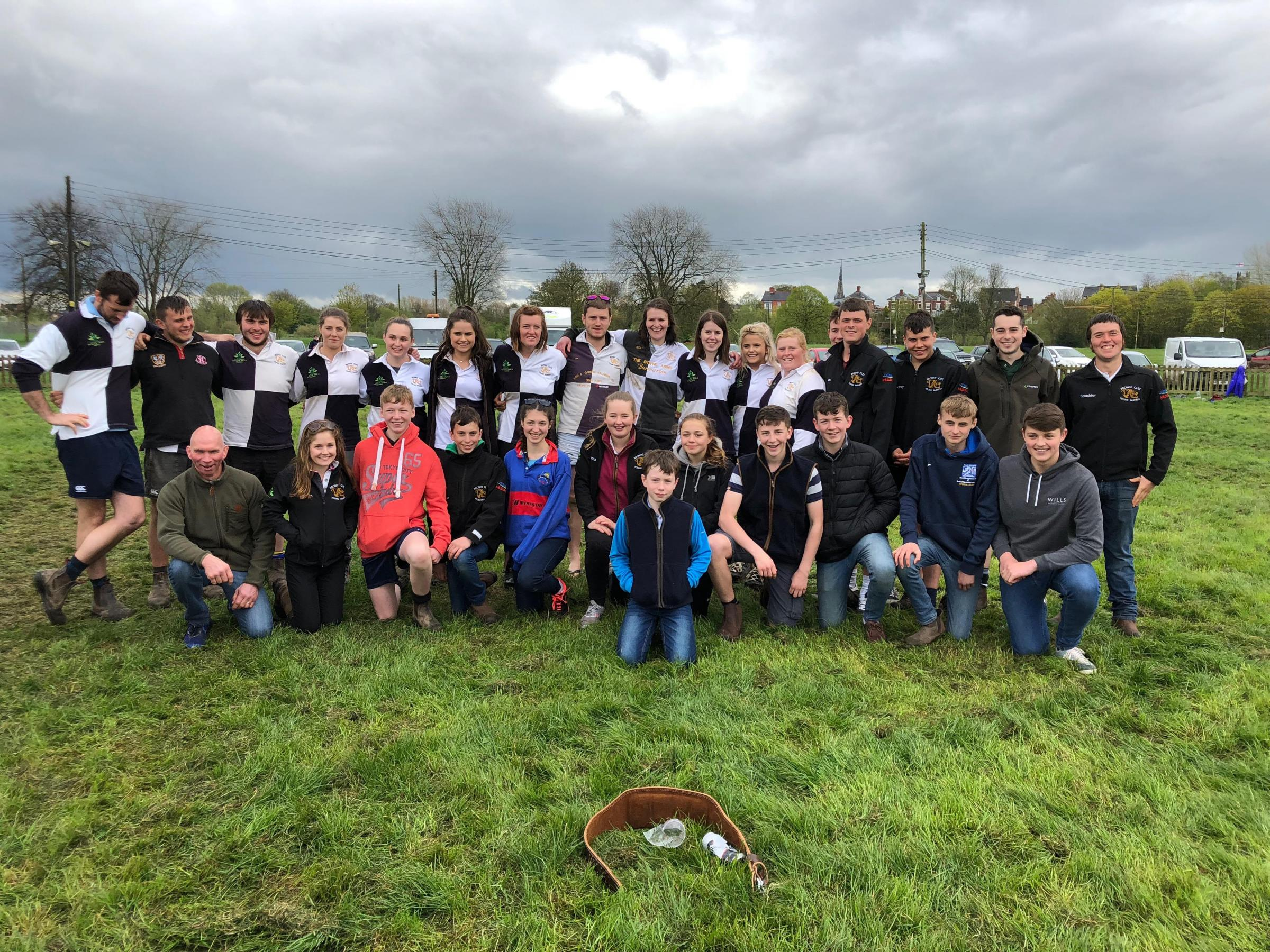 The Brown Clee Young Farmers' three teams photographed together