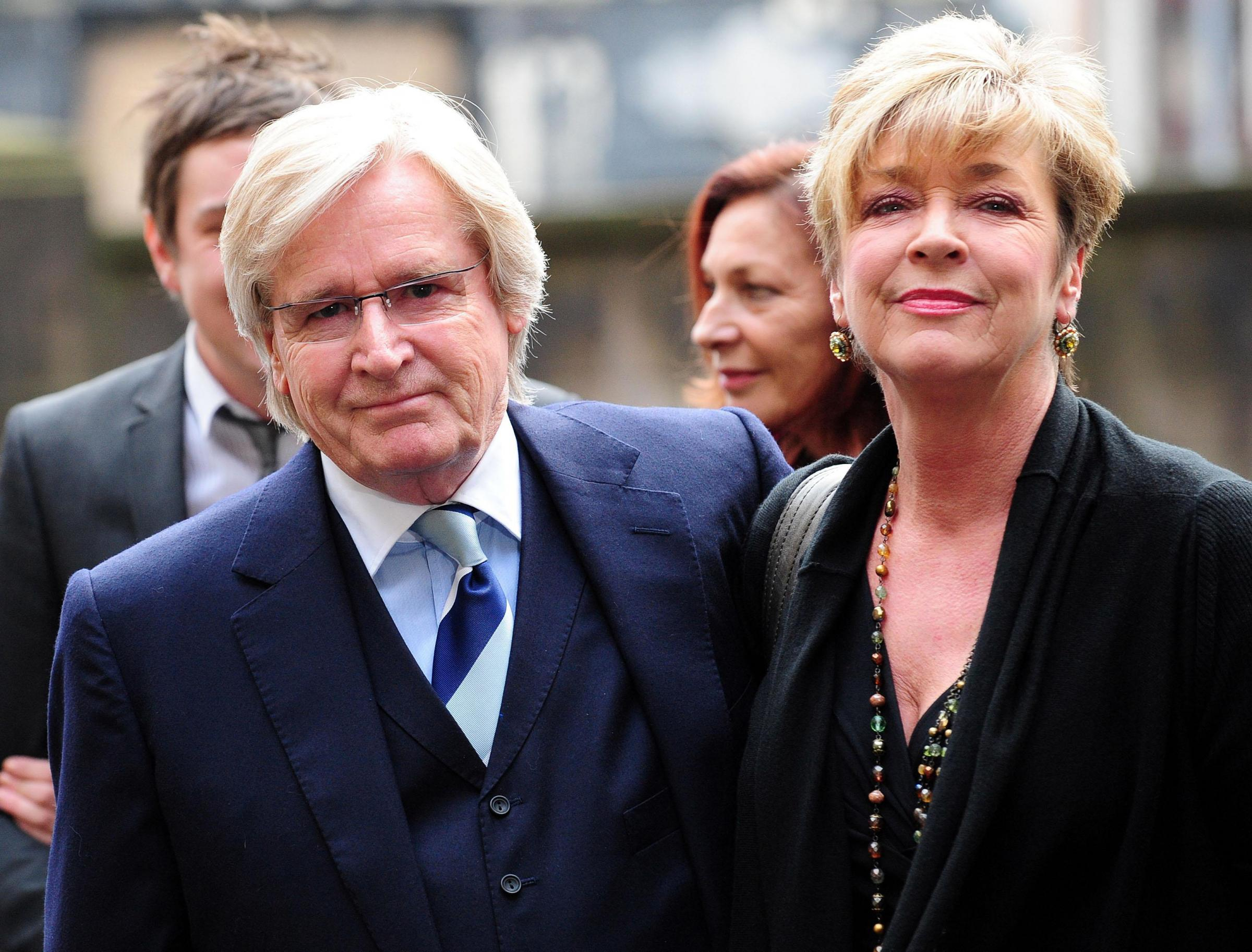 File photo dated 25/02/10 of  Coronation Street actors William Roache, who played Ken Barlow with Anne Kirkbride, who played Deirdre Barlow, as she has died after a short illness, her husband David Beckett said. PRESS ASSOCIATION Photo. Issue date: Monday