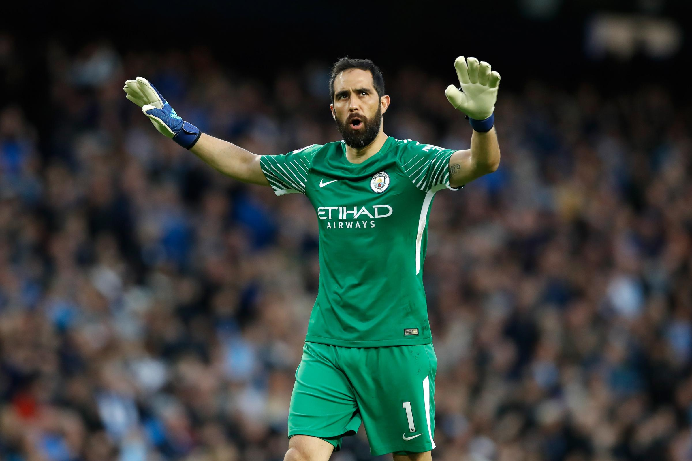 Injury to Claudio Bravo has restricted Manchester City's goalkeeping options