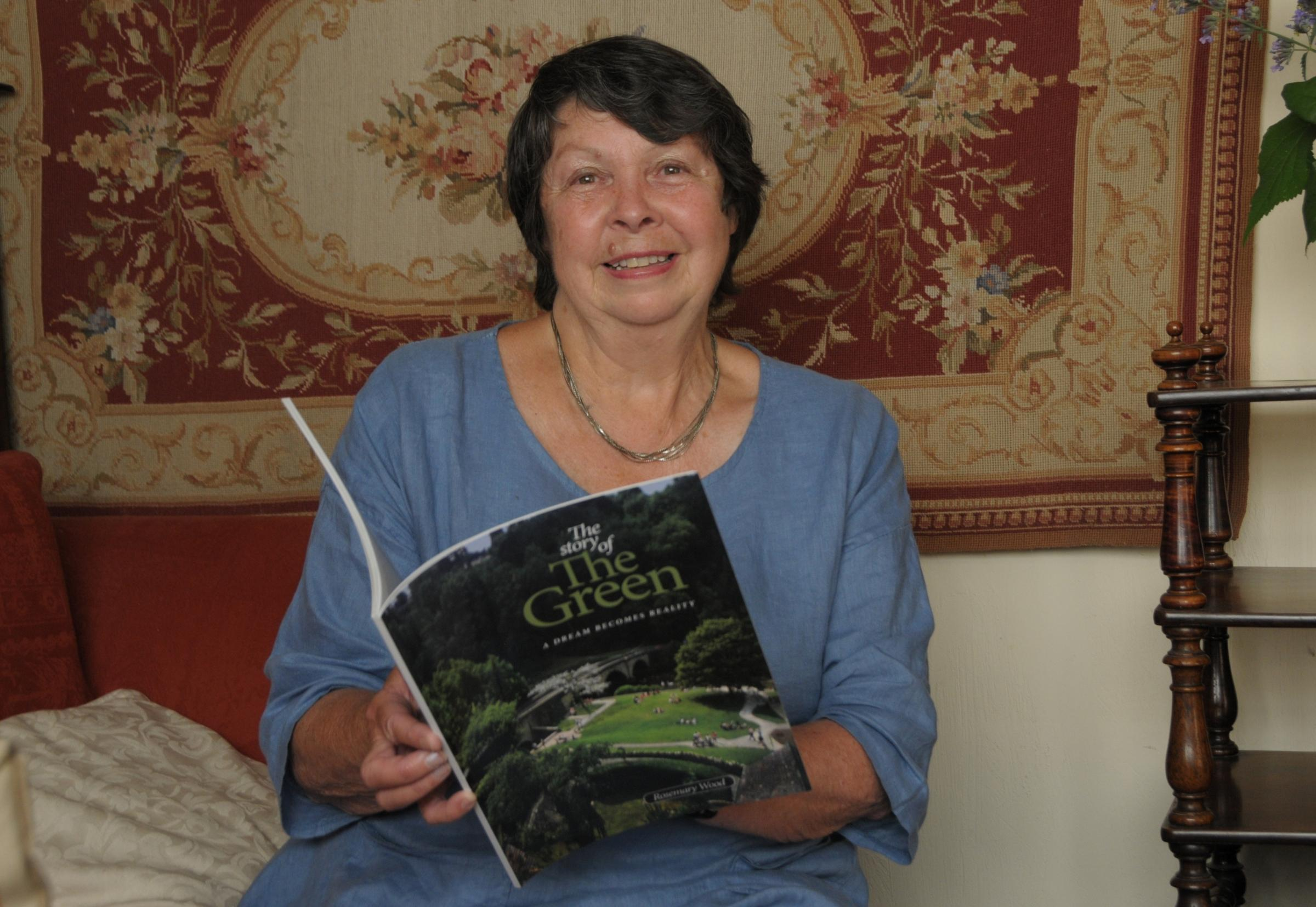 Rosemary Wood with the tribute book