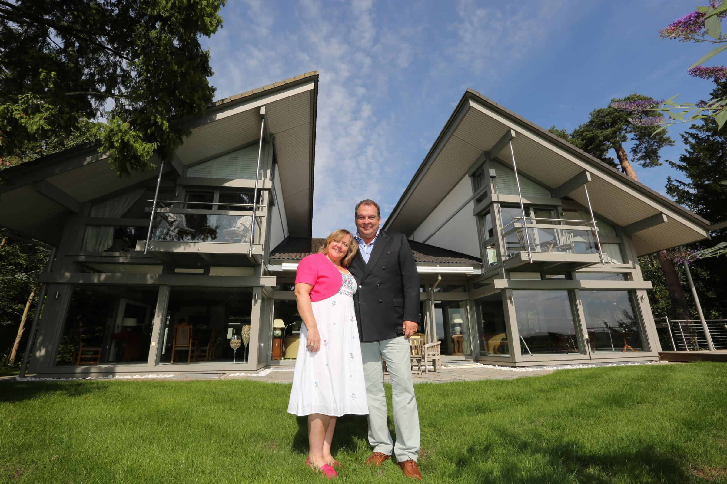 Mark and Sharon Beresford who are selling their home in Avon Castle, Ringwood, through a competition