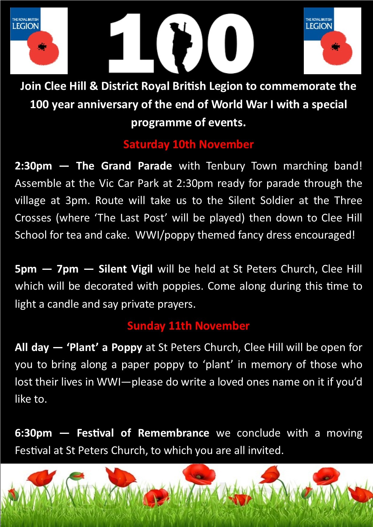 Launch of Poppy Appeal events in Clee Hill