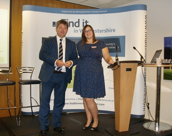 Lorna Jeynes, Business Growth Manager at Worcestershire County Council with Andrew Spice, Director of Commercial and Commissioning