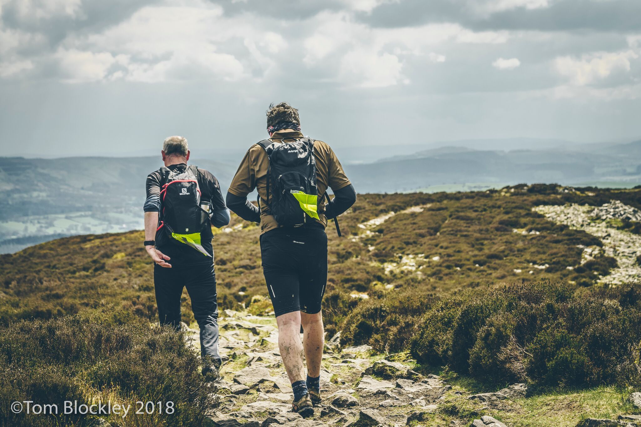 Over 100 participants were taken over the Stiperstones on the 50 mile route. Photo: Tom Blockley