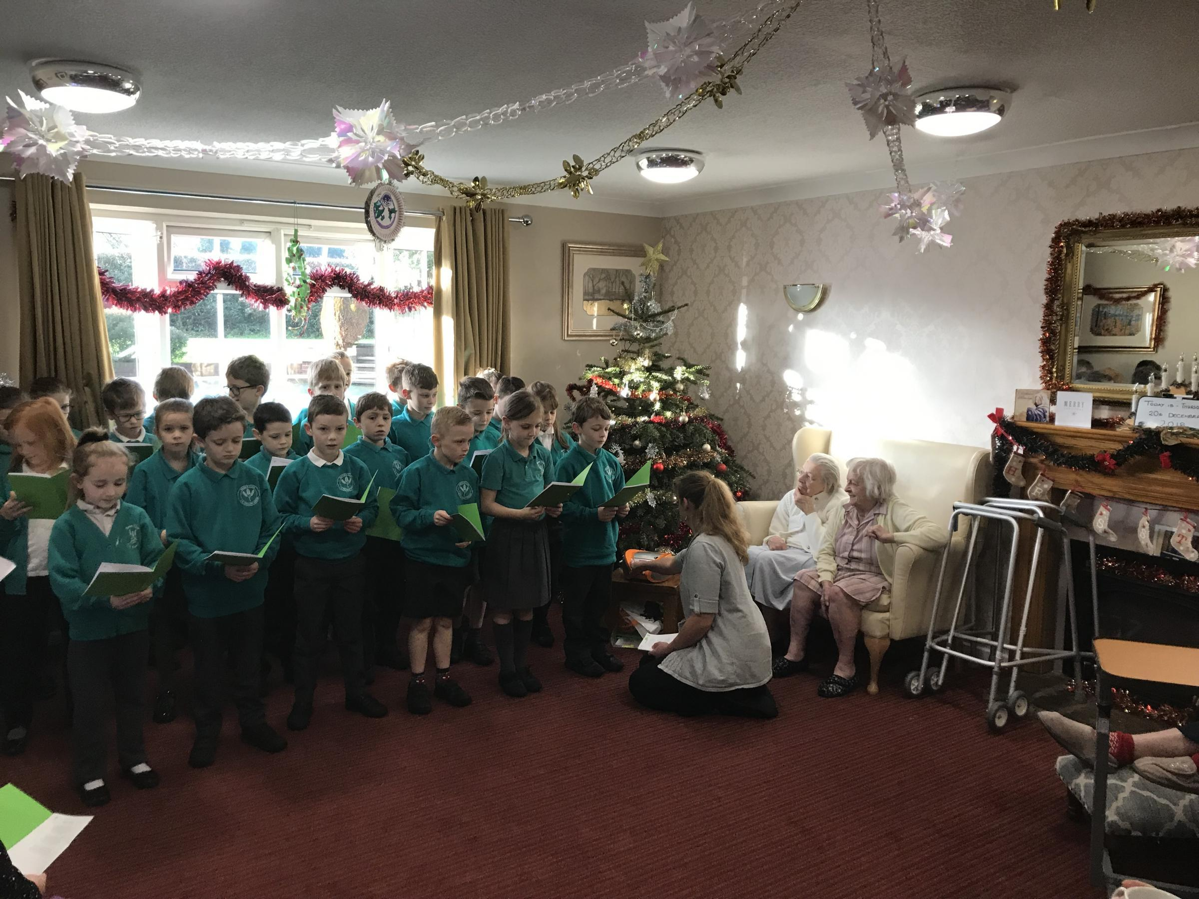 The children in concert just prior to Christmas