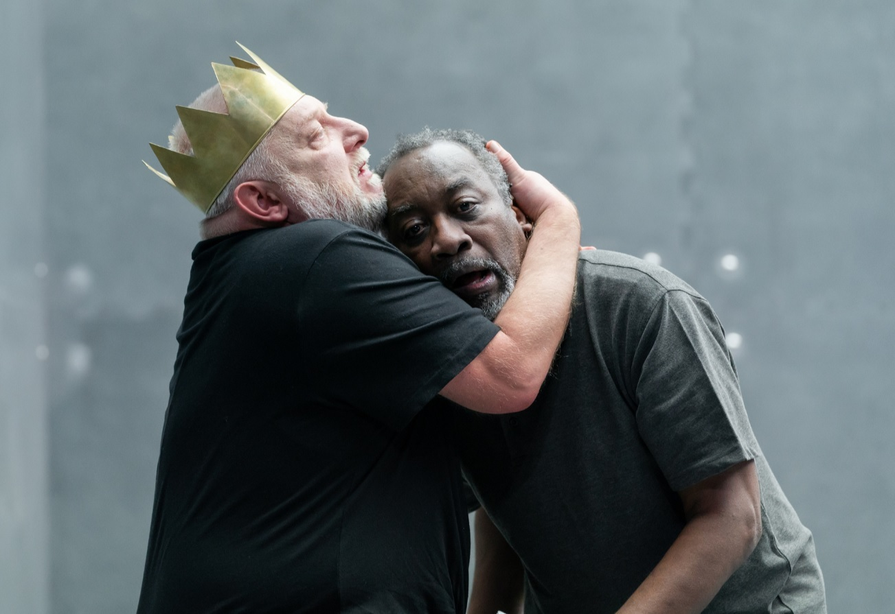 Simon Russell Beale and Joseph Mydell in The Tragedy of King Richard II
