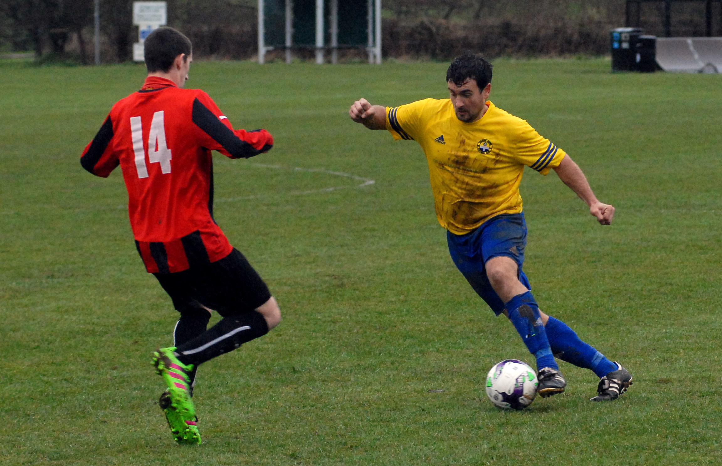 Tenbury United's Aaron Morris was left regretting missing a free header as his side lost on penalties