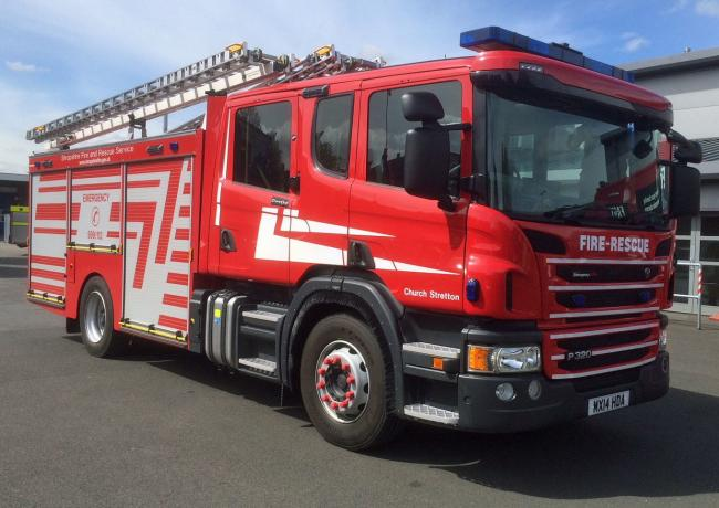 Shropshire Fire and Rescue Service were called to a fryer fire in Ludlow.