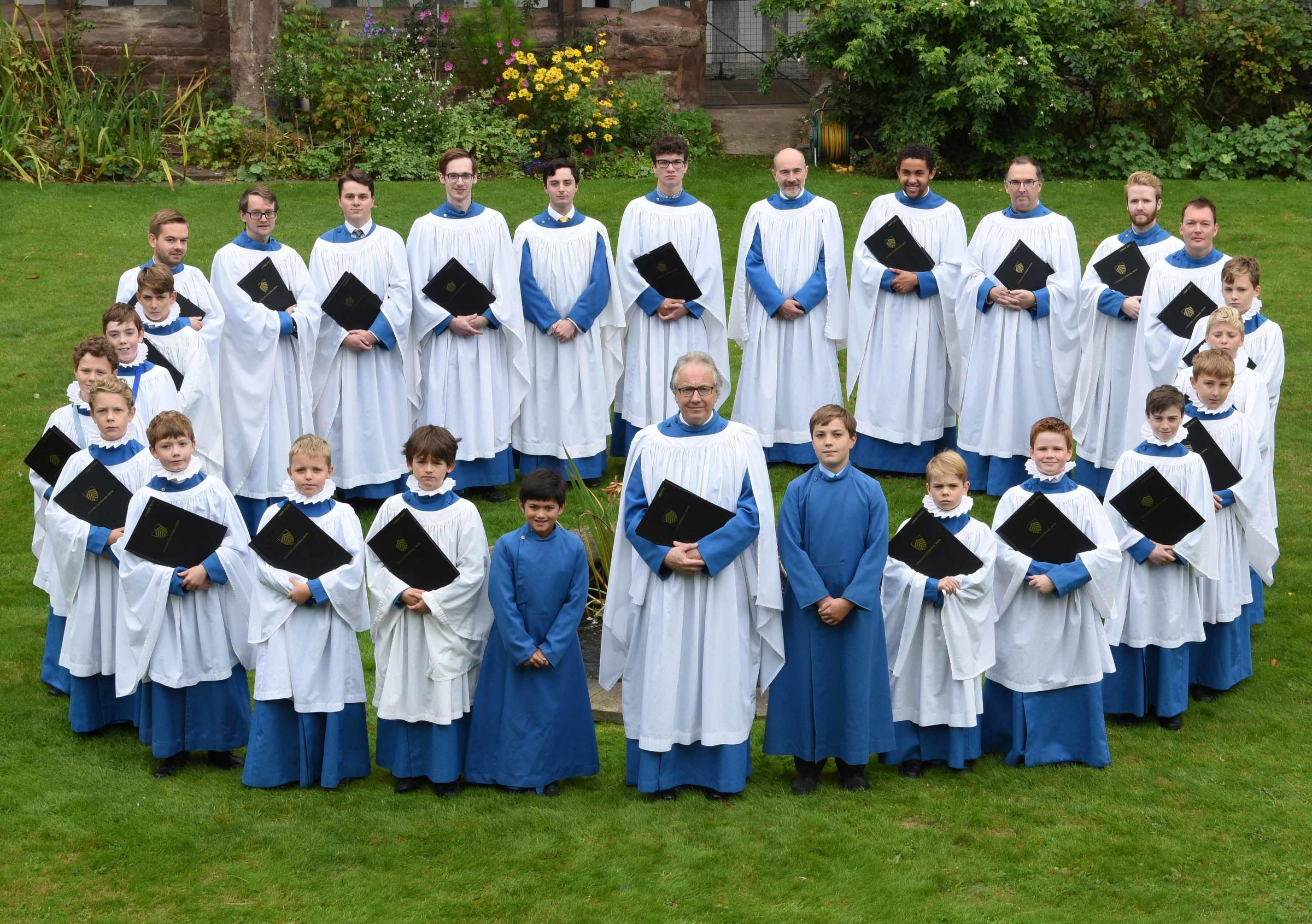 Hereford Cathedral Choir with musical director Geraint Bowen