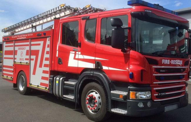 Shropshire Fire and Rescue Service were called to reports of a tractor fire yesterday.