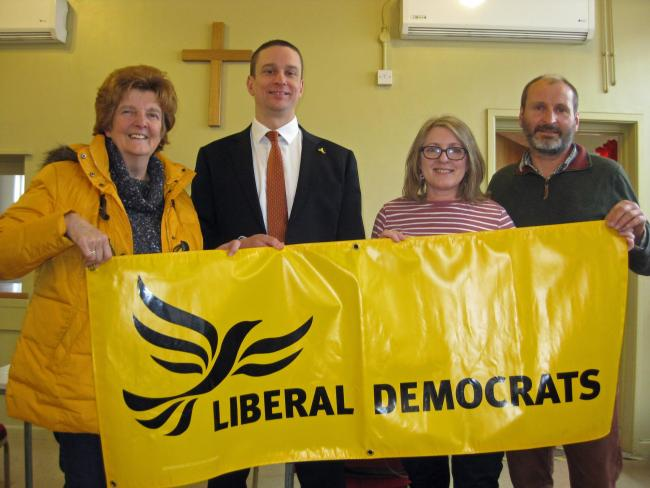 Left to Right: 	Vivienne Parry (Cllr, Ludlow South), Rick Eling, Tracey Huffer (Cllr, Ludlow East), Richard Huffer (Cllr, Clee Division)