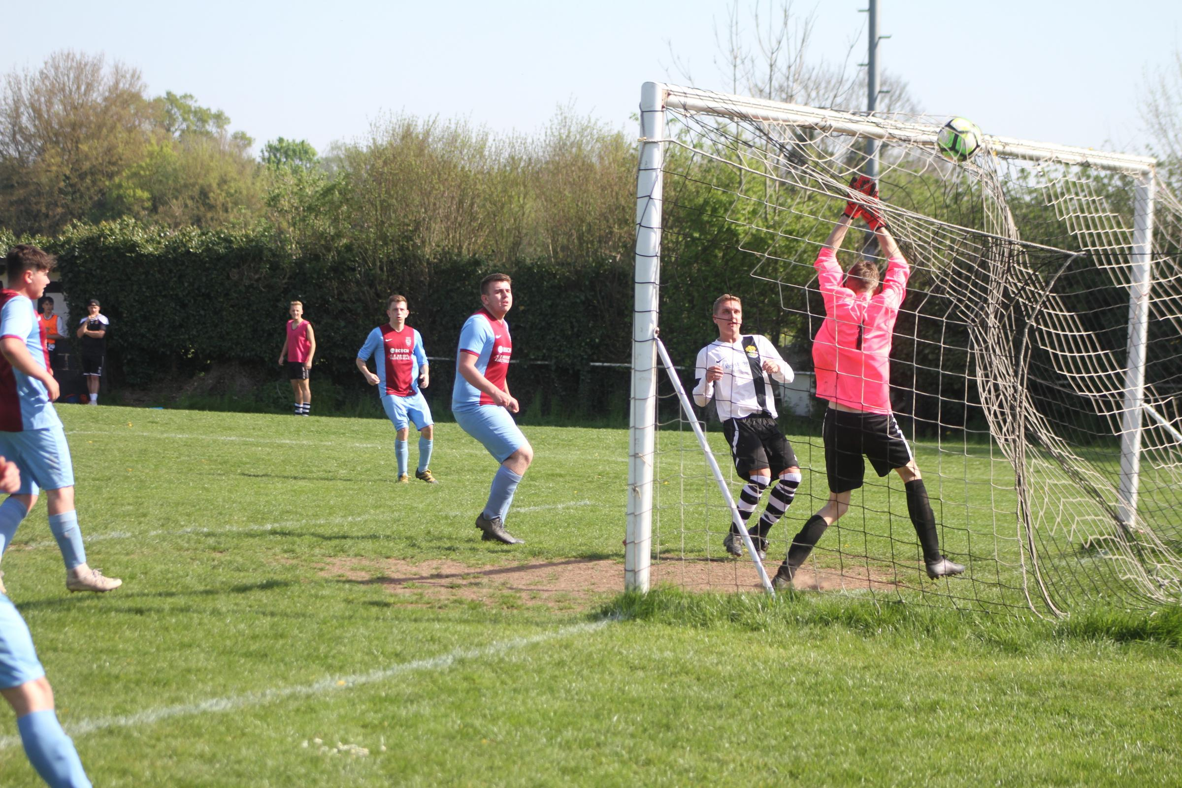 Tenbury conceded three later goals in their final league game at Ledbury Town. Picture: Matt Cale