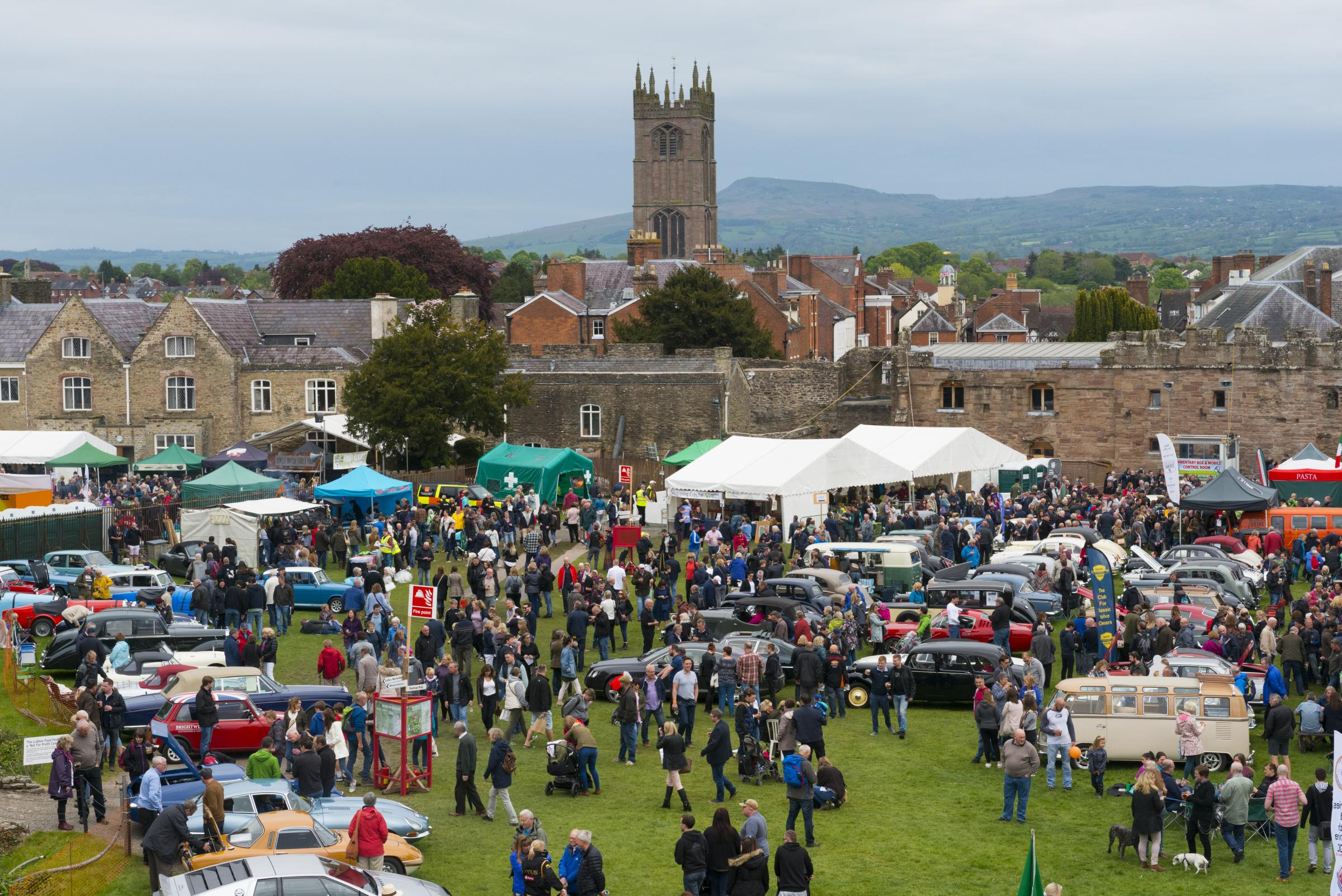 Looking down on the castle grounds at the 2017 Ludlow Spring Festival. Picture: Shropshire and Beyond