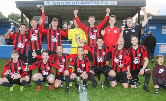 Tanners Town Cup Final, Waterloo Rovers Res v Bishops Castle Town..Pictured are the winners Bishops Castle..Picture by Phil Blagg..PB200-2019-23.