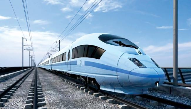 NEW: An impression of What the proposed high-speed rail link HS2 would look like.